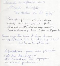 Livre d'or page 1
